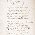 "Letter to ""Cousin Maggie,"" found inside Margaret Jane ""Lizzie"" Campbell's ""Album of Love."" Campbell attended Hollins from 1865 to 1866."