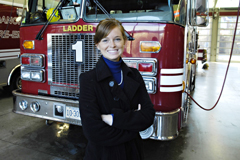 Whitney Fleshman '13 at Roanoke Fire-EMS