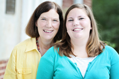 Katherine Phillips Henderson '73 and daughter Isabel '13