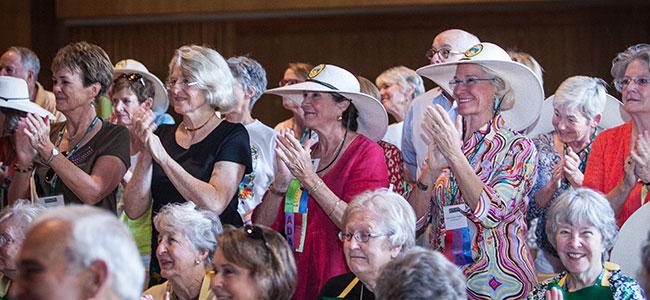 Alumnae applaud announcement at Reunion 2013