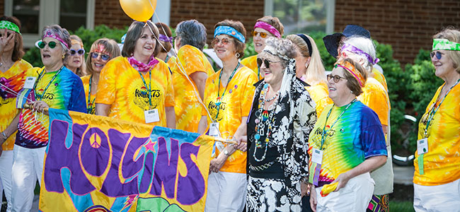 The Class of 1973 at the Saturday parade at Reunion 2013