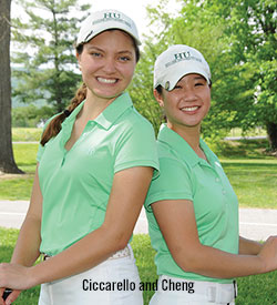 Shannon Ciccarello '17 and Elizabeth Cheng '14