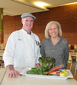 Executive chef Mike Shea and director of dining services Lee McMillan. Photo by Sharon Meador