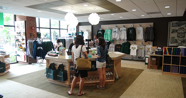 During the summer, the bookstore was relocated from the lower to the main level of Moody to boost its visibility. Other improvements included reconfigured meeting and office spaces and a new commuter student lounge.