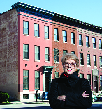 In the early 1970s, Nancy Miller Schamu '68 successfully lobbied Baltimore City's Interstate Division to reconsider a planned highway ramp that would have meant the demolition of this Baltimore row house. The ramp was rerouted, saving the home and a piece of the city's history.