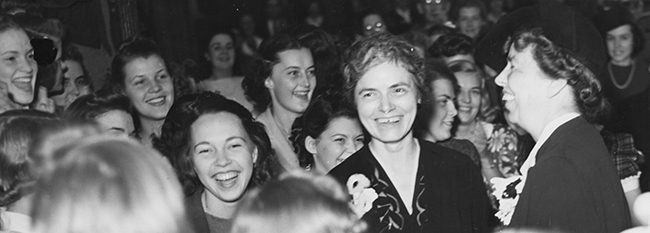 Bessie Carter Randolph with First Lady Eleanor Roosevelt