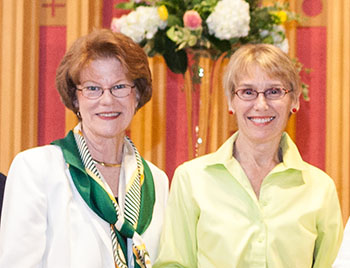 Suzanne Hubbard O'Hatnick and President Nancy Gray