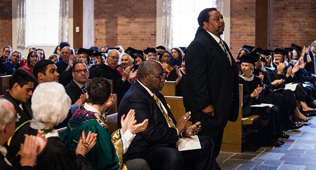 Photo of Isaiah Sweetenberg speaking at Inauguration