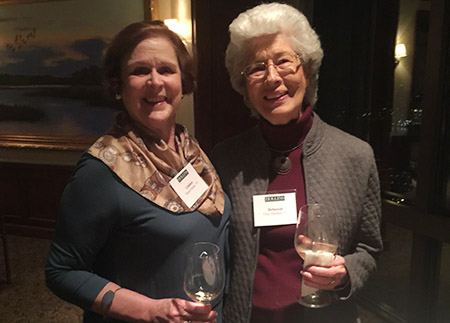 Photo of two alumnae at Jacksonville alumnae event