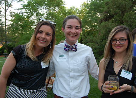 Photo of three alumnae at event in Richmond