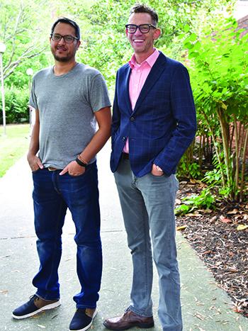 Photo of Doug Jackson and Sunil Yapa