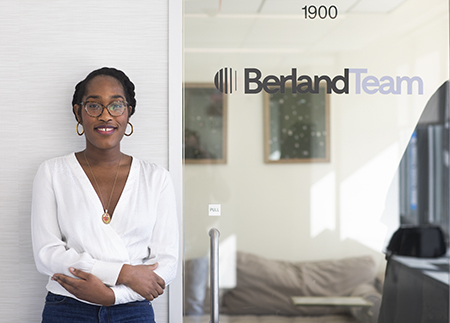 Photo of student doing internship at Berland Team in NYC