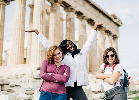 Photo of students in Greece on a Short Term trip