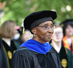 Shireen Lewis at Hollins' Commencement