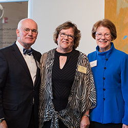 Susan Jennings with President Gray and President Maxey