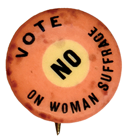 Suffragette button