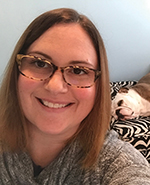 Courtney with dog