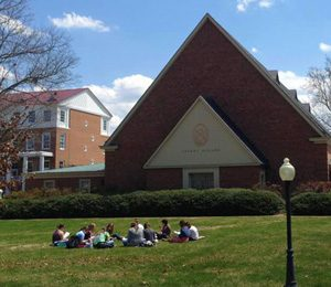 Students in front of Chapel