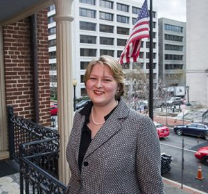 Photo of student interning at the U.S. Consulate in Washington, DC