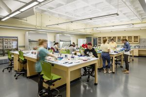 Lab in the Dana Science Building