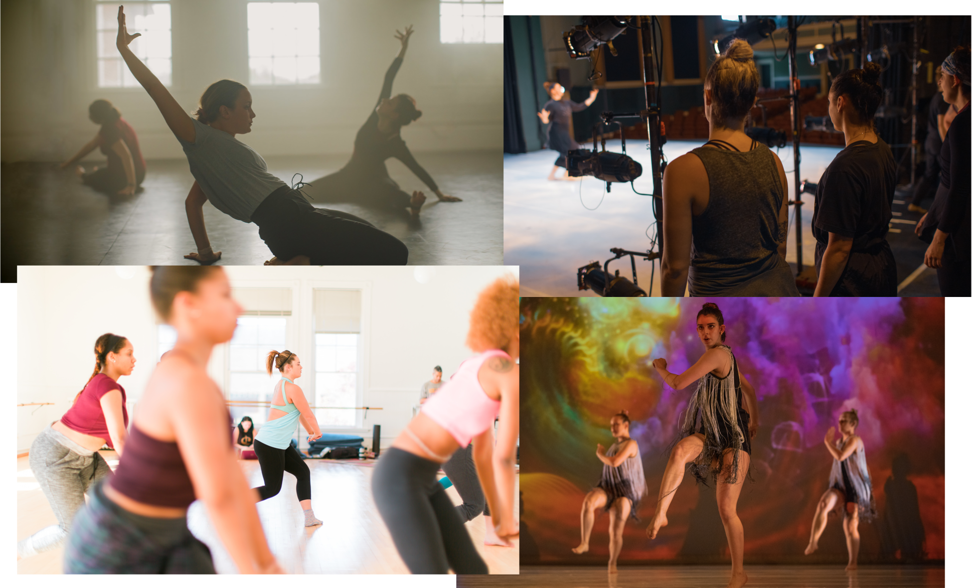 A dance major at Hollins performs on campus.