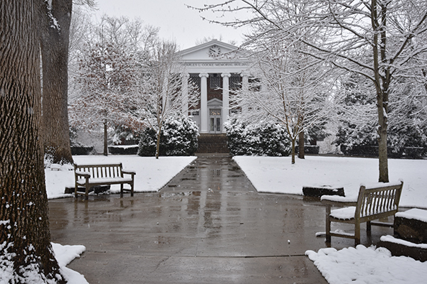 Snow on Front Quad
